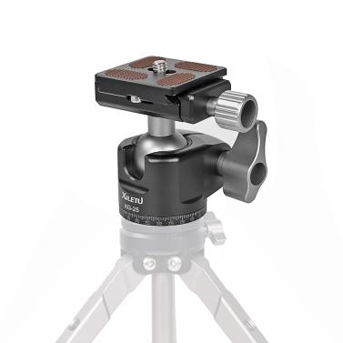 XILETU XG25 Panoramic Tripod Head Adjusting Platform Low Gravity Center Aluminum Alloy Material Max. Load 6kg/13.2lb