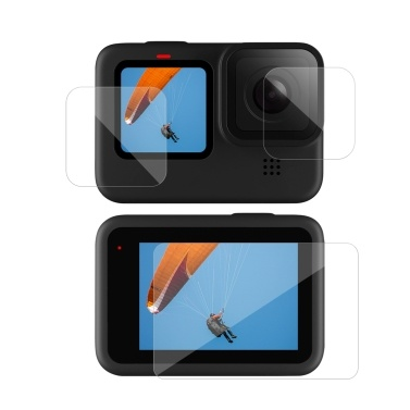 TELESIN 3pcs Tempered Glass Screen Protector Protective Lens Film