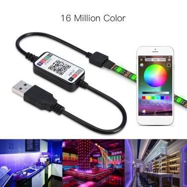 2 m LED Cor Mudando Luzes de Tira RGB Luz de Tira com Controlador de BT Smartphone APP Fita LED tira