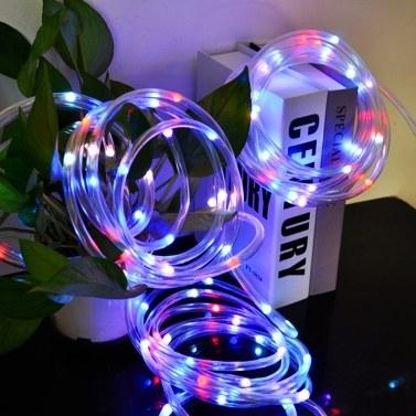 100 LED Lichterketten 33ft 16 Farben wechselnde USB-betriebene IP68 wasserdichte Twinkle Fairy Tube Strip Light mit Fernbedienung