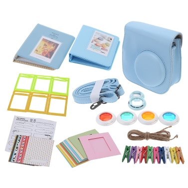 7 1 Instant Film Camera Accessories Bundles Fujifilm Instax Mini8 Case/Photo Album/Close-Up Selfie Lens/Colors Close-Up Lens/Wall Hang Frames/Photos Frame/Stickers Cute Kids Friends Gift