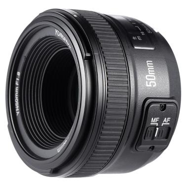 YONGNUO YN50mm F1.8 Grande Ouverture AF Auto Focus FX DX Plein Cadre Lentille pour Nikon