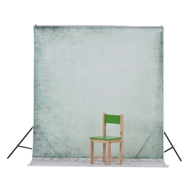 1.5 * 2.1m/5 * 6.9ft Photography Backdrop Background Digital Printed Green Cement Wall Wooden Floor Pattern for Kid Children Baby Newborn Portrait Studio Photography