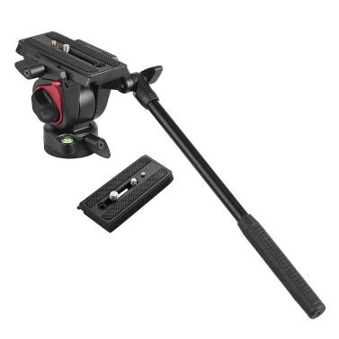 Miliboo Videokamera Stativ Action Fluid Drag Kopf Hydraulische Pan Tilt Kopf mit 2 stücke Schnellwechselplatte für Canon Nikon Sony DSLR