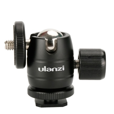 Mini Metal Ball Head 1/4 Screw Mount 360°Rotatable Ballhead Tripod Accessory for Camera with Hot Shoe
