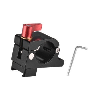 Monitor Rod Clamp Holder Monitor Video Light Mount Stand Bracket with Cold Shoe Slot 1/4 3/8 Inch Screw Mounts for DJI Ronin-M/Ronin-MX for Zhiyun FeiyuTech 22-27mm Dual Handheld Gimbal