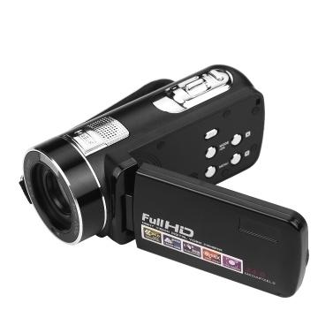 Digitaler Camcorder Fulll HD 1080P 24MP Videokamera Vlog Recorder