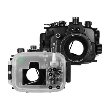 Seefrösche Unterwassertauchgehäuse Wasserdichte Kamera Schutzhülle 40M / 130FT Tiefe Kompatibel mit Canon Powershot G1X Mark Ⅲ