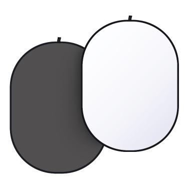 1,5 x 2 * 2 m schwarz-weiß 2-in-1 Studio Collapsible Background Panel