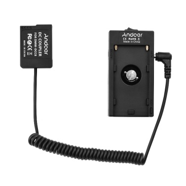 Andoer NP-F970 F750 Batterieplattenhalter-Adapter DMW-DCC8 Dummy-Batteriekoppler kompatibel