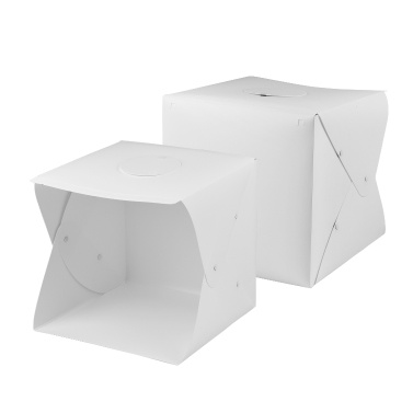 Andoer 40 * 40 * 40cm/ 16 * 16 * 16inch Foldable LED Light Tent Tabletop Photo Studio Lightbox Softbox