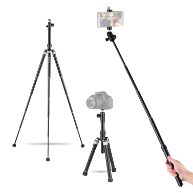 XILETU XBT-170S 3 in 1 Portable Selfie Stick Tripod 170cm/5.6ft 10-Section 3-angle Adjustable