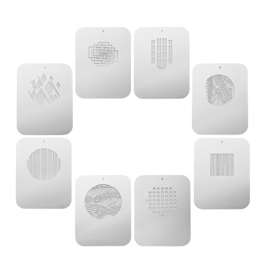 8pcs/set Gobos Graphics Cards Metal Plates with Hollow Patterns