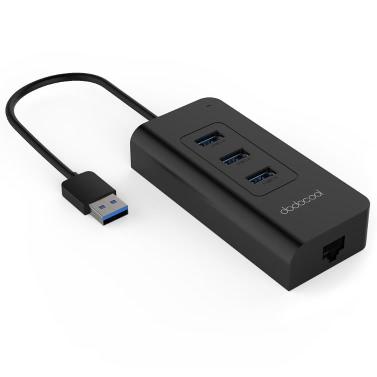 dodocool 3-Port USB3.0 HUB with RJ45 Gigabit Ethernet Lan Wired Network Adapter Free Driver