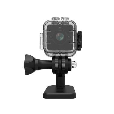 1080P / 30fps High-Definition Mini Tragbare Kamera Smart WiFi Drahtlose Überwachungskamera Nachtsicht-Bewegungserkennung mit Basishalterung Clip Wasserdichtes Gehäuse für Home Security Outdoor-Training Kinder Überwachung Haustiere Überwachung Pet