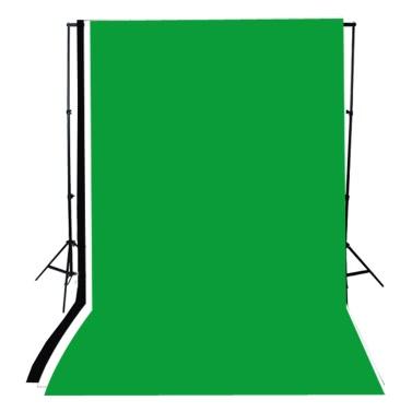 Andoer Foto Studio Kit Fotografie 45W Glühbirne Musselin Kulisse Stand E27 Licht Socket weiche regenschirm schirm schwarz/Gold Set