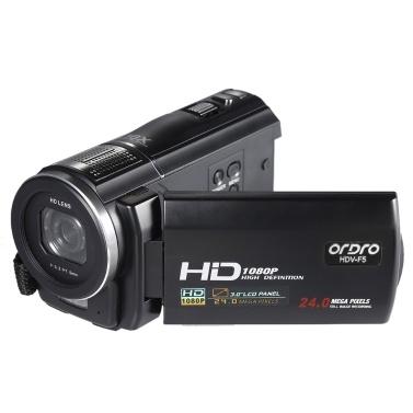 """ORDRO HDV-F5 1080P Full HD 3.0 """"Drehbare LCD-Digital-Videokamera mit Touchscreen"""
