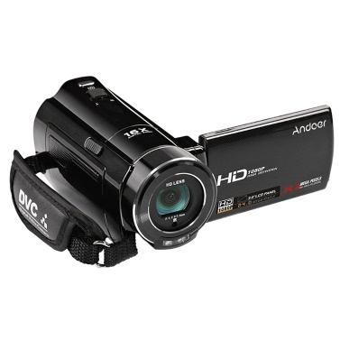 """Andoer HDV-V7 1080p Full HD Digital Videokamera Camcorder Max. 24 Megapixel 16 x Digital-Zoom mit 3,0"""" Drehbare LCD-Schirm-Unterstützung Gesichtserkennung"""