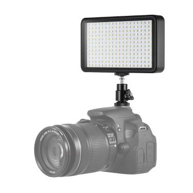 Andoer Ultradünnes Studio-Video-Foto-LED-Videoleuchte-Verkleidungs-Lampe 3200K / 6000K 20W dimmbare Perlen 228pcs für Canon Nikon DSLR Kamera DV-Kamerarecorder