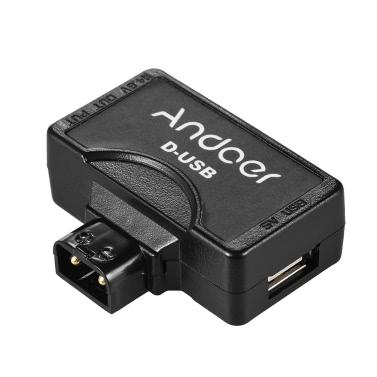 Andoer DTAP bis 5V-USB-Adapter Anschluss für V-Montage-Kamera Akku für BMCC Smartphone-Monitor