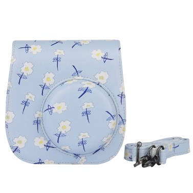 Andoer Compact Cute Lovely PU Leather Protective Camera Bag Carrying Case Pouch Cover Protector Bird Pattern w/ Shoulder Strap Album Pocket for Fujifilm Instax Mini 8+/8s/8/9 Camera