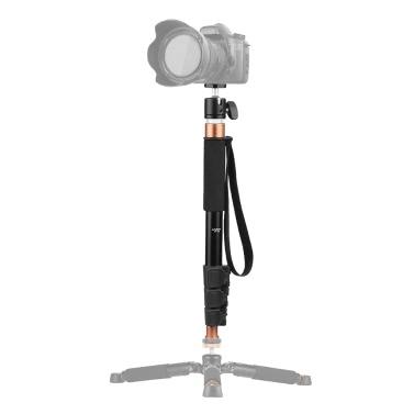"""Andoer TP-148 94.6cm / 37.2 """"Adjustable Leichtes Einbeinstativ Einbeinstativ Mikrofon Boom Pole Max. Belastbarkeit 5 kg für Canon Nikon Sony-Kamera mit Mikrofon"""