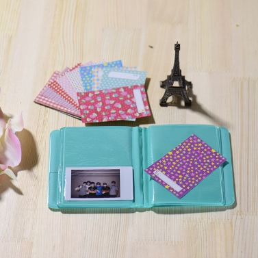 Andoer 14 1 Accessories Kit Fujifilm Instax Mini 8/8+/8s w/ Camera Case/Strap/Sticker/Selfie Lens/5*Colored Filter/Album/3 Kinds Film Table Frame/10*Wall Hanging Frame/40*Border Sticker/2*Corner Sticker/Pen
