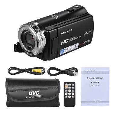 Andoer V12 1080P Full HD 16X Digital Zoom Recording Video Camera