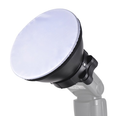 18cm Reflektor Diffusor Lampenschirm mit weichem Tuch für Canon Nikon Sigma Yongnuo Godox Andoer Neewer Vivitar Blitzgerät