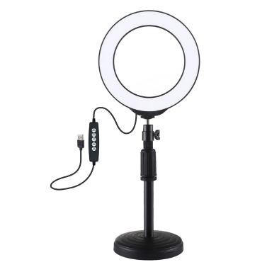 PULUZ 4,7 Zoll 120 mm USB 10 Modi 8 Farben RGBW Einstellbare dimmbare LED-Rundringe Vlogging Photography Lamp Video Lights