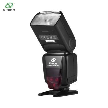 VISICO Camera Flash Speedlite TTL Speedlight Built-in 2.4G Wireless Trigger System