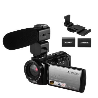 Andoer HDR-AE8 4K WiFi Digital Video Camera Camcorder DV Recorder