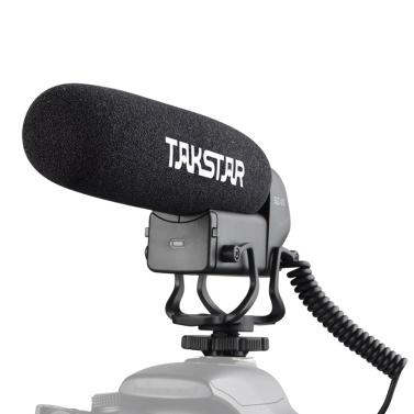 TAKSTAR SGC-600 Kondensator-Interviewmikrofon vor der Kamera