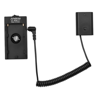 Andoer NP-F970 F750 Battery Plate Holder Adapter + FW50 Dummy Battery Coupler