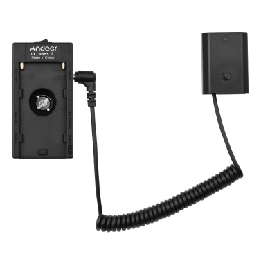 Andoer NP-F970 F750 Battery Plate Holder Adapter with Dual USB Interface + FW50 Dummy Battery Coupler