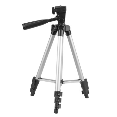 Lightweight Tripod 14.1-43.3 Inches Adjustable Height Four Sections
