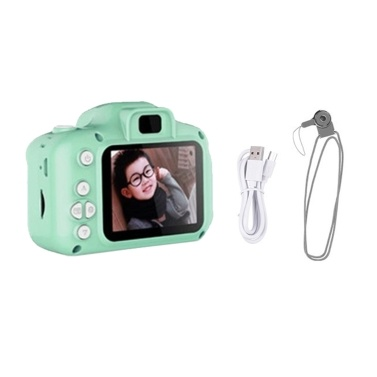 8MP Kids Children Digital Camera 1080P Video Camcorder Educational Toy 2.0 Inches Display Screen for Girls and Boys Built-in Battery with Strap Charging Cable Normal Resolution Pink