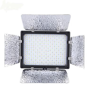 Andoer W300 Video Fotografie Lampe Licht Panel 300 LEDs 6000K für Canon Nikon Pentax Sony (Alpha) Olympus Fujifilm DSLR Kamera DV-Camcorder