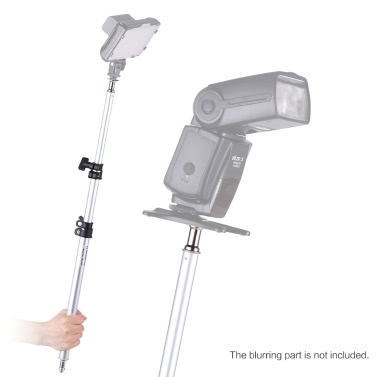 95cm Portable Three Sections Stretchable Adjustable Extendable Light Boom Pole Stick 1/4