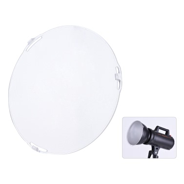 """Photo Studio Tragbare 18.5cm Frosted-Oberfläche Diffusorplatte für Bowens Mount 7 """"Standardreflektor Lampenschirm"""