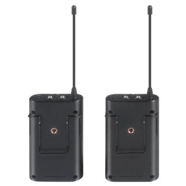 COMICA CVM-WM100 Professionelle 48 Kanäle UHF Omni-direktionale Wireless Lavalier Mikrofon 100m Arbeitsabstand für Nikon Sony Canon 5D III, 5D II, 6D für Panasonic GH5, GH4 Kamera Camcorder für iPhone Samsung Huawei Smartphones