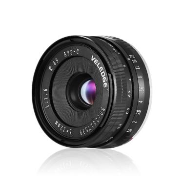 VELEDGE Lente de foco manual de grande abertura 32mm F / 1.6
