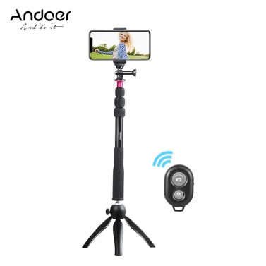 $5 Discount On Andoer Selfie Stick+Mini Tripod+Phone Tripod Mount+Wireless Remote Control!