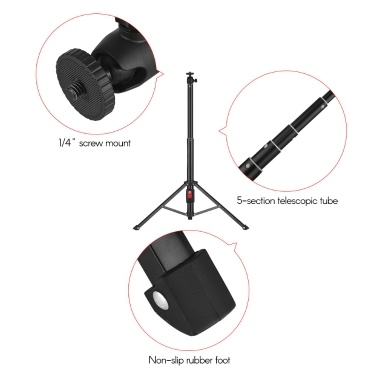 Dual Smartphone Live Streaming Tabletop Tripod  Aluminum Alloy 5-Section Selfie Stick with Phone Remote Controller for iPhone Huawei Sumsang Phones for ILDC Camera DV for GoPro Hero Series