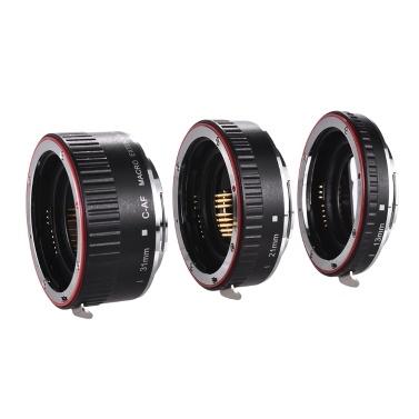Makro Verlängerungsrohr Set Kupfer Autofokus AF Makro Objektiv Verlängerungsrohr Ring mit Abdeckungen für Canon 60D 70D 80D 5DII 5DIII 5DIV 5DS 5DSR 700D 800D 750D 550D 7DII 6D 6DII EF EF-S-Objektiv DSLR-Kamera