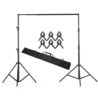Andoer 280 * 300 cm / 118 * 110 Zoll Aluminiumlegierung Einstellbare Fotografie Studio Hintergrund Hintergrund Stand