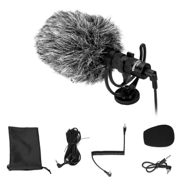 YONGNUO Cardioid Directional Video Microphone mit 3,5-mm-TRS-TRRS-Kabel zur Stoßdämpfermontage