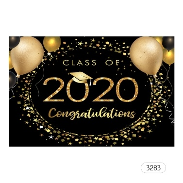 7*5ft Professional Backdrop The Class of 2020 Graduation Photography Background
