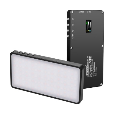 Andoer MFL-07 Tragbares RGB-LED-Videolicht-Fülllicht 10 W dimmbar 3000K-6500K CRI96 TLCI98