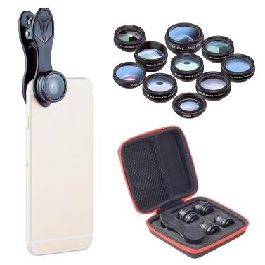 APEXEL 10 in 1 Telefonkamera-Objektiv-Kit
